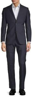 Saks Fifth Avenue Extra Slim Fit Two-Piece Wool Stripe Suit