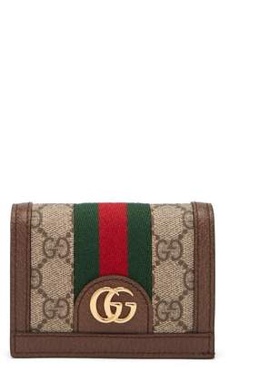 Gucci Ophidia Gg Supreme Leather Wallet - Womens - Brown Multi