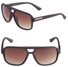 Alfred Sung 57mm Cut-Out Aviator Sunglasses