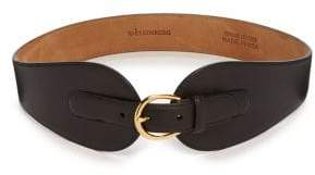 W.KLEINBERG W. Kleinberg Wide Leather Belt