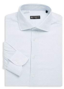 Corneliani Dot-Print Cotton Dress Shirt