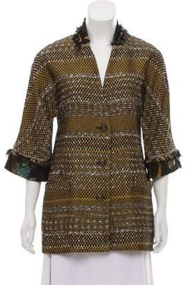 Etro Tweed Button-Up Jacket