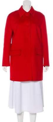 Prada Wool-Blend Button-Up Coat