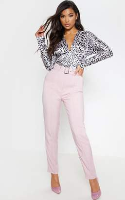 PrettyLittleThing Pastel Blue Belted Tailored Trouser