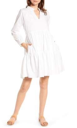 J.Crew Tiered Popover Cotton Poplin Dress