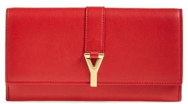 Saint Laurent 'Y Flap - Large' Leather Wallet