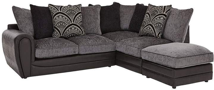 Gatsby Right Hand Single Arm Corner Chaise Sofa + Footstool
