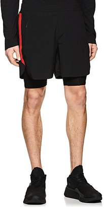 Blackbarrett Men's Layered Compression Gym Shorts - Black Size L