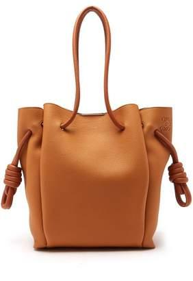 Loewe Flamenco Grained Leather Bag - Womens - Tan
