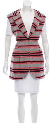 Thakoon Longline Striped Vest