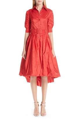 Oscar de la Renta Bubble Hem Silk Dress