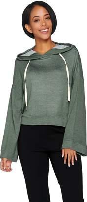 Peace Love World Heathered Knit Cropped Sweatshirt
