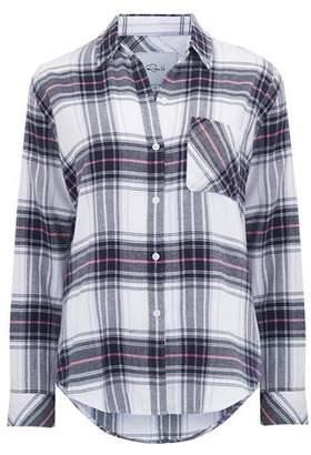 Rails Milo Shirt in White, Navy and Magenta