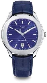 Piaget Polo S Stainless Steel Alligator Strap Watch