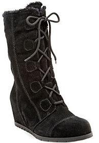 BareTraps Water-Resistant Suede Lace-up Boots -Brinda $109 thestylecure.com