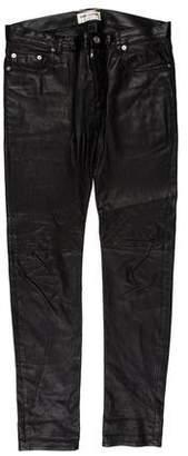 Saint Laurent Leather Biker Pants
