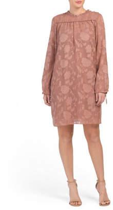 Long Sleeve Applique Dress