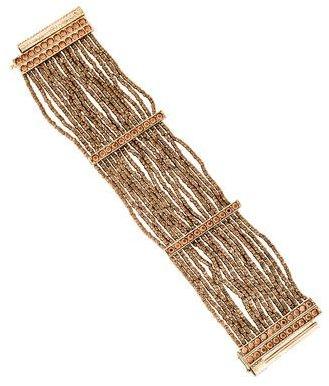Christian Dior Christian Dior Crystal & Bead Multistrand Bracelet