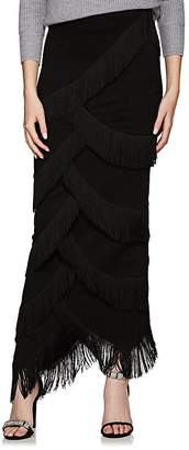 Y/Project Women's Fringed Ponte Maxi Skirt