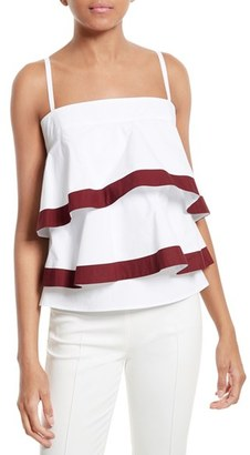 Women's Tory Burch Sage Flounced & Tiered Tank Top $350 thestylecure.com