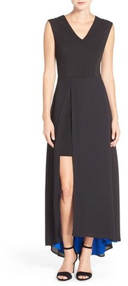 Women's Eci Overlay Drape Maxi Dress $98 thestylecure.com