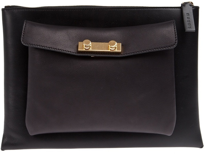 Marni double pouch clutch