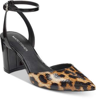 Marc Fisher Cedrina Two-Piece Block-Heel Pumps Women's Shoes