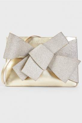 DELPOZO Gold Bow Clutch
