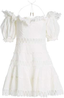 Zimmermann Melody Off-Shoulder Cotton-Linen Dress