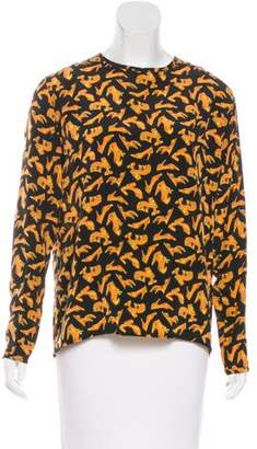 Salvatore Ferragamo Printed Silk Top