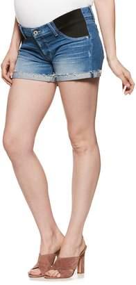Paige Jimmy Jimmy Raw Cuff Denim Maternity Shorts