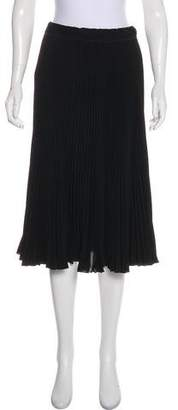 Marc Jacobs Pleated Knee-Length Skirt
