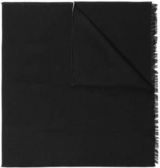 Valentino black logo wool scarf