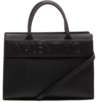 Mario Valentino Valentino by Top Handle Vegan Leather Bag Logo