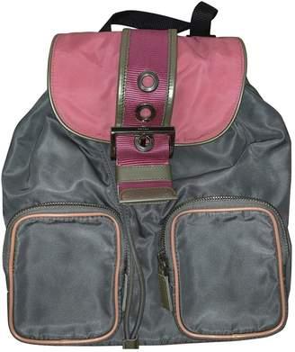 Prada Grey Cloth Backpacks