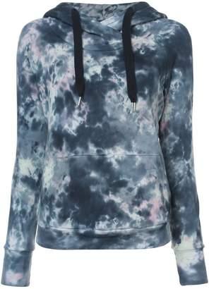 NSF tie dye print hoodie