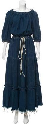 Chloé 2016 Denim Maxi Dress