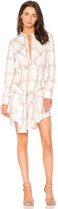 Derek Lam 10 Crosby Plaid Shirt Dress