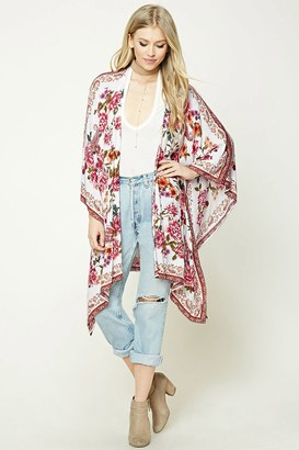 FOREVER 21+ Floral Print Kimono $19.90 thestylecure.com
