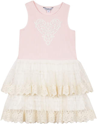 0475dc7d1f3 Pippa   Julie Tiered Lace Contrast Fit-and Flare Dress 12-24 Months