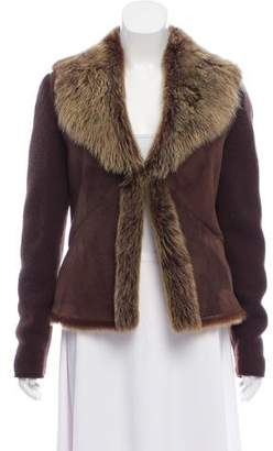Brunello Cucinelli Suede Shearling Jacket