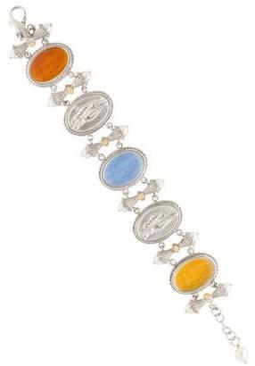 Tagliamonte Pearl-Accented Venetian Intaglio Link Bracelet