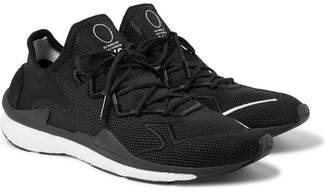 Y-3 Y 3 Adizero Runner Neoprene and Suede-Trimmed Mesh Sneakers - Black