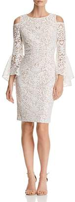 Aqua Cold-Shoulder Lace Dress - 100% Exclusive