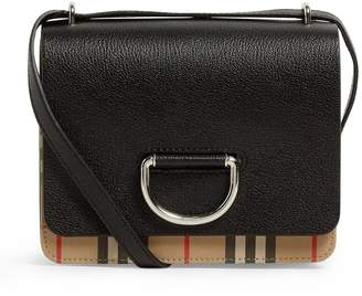 Burberry Leather Vintage Check D-Ring Bag
