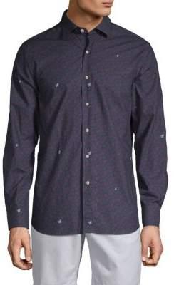 Vilebrequin Turtle Mix Cotton Button-Down Shirt