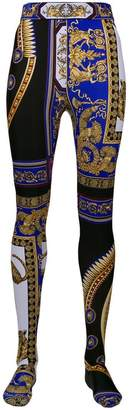 Versace The Lovers print tights
