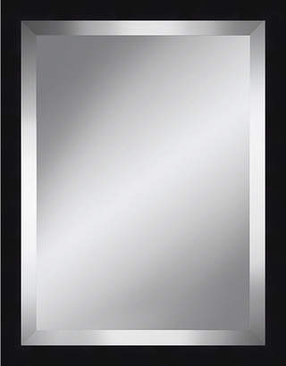 Asstd National Brand Black Grain Beveled Plate Mirror