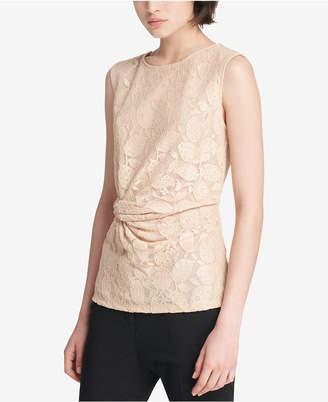 DKNY Lace Side-Knot Blouse