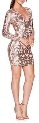 Quiz Sequin Mini Bodycon Dress